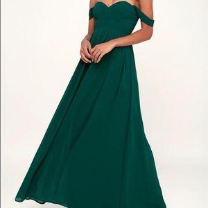 Lulus Harmonious Love Forest Green Maxi Dress